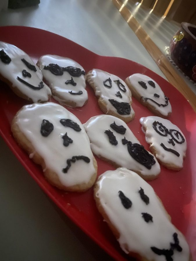 Home-made spooky cookies are a fun way to spend your time while staying safe.